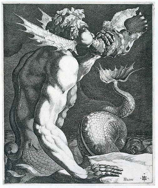 Triton and Conch Shell