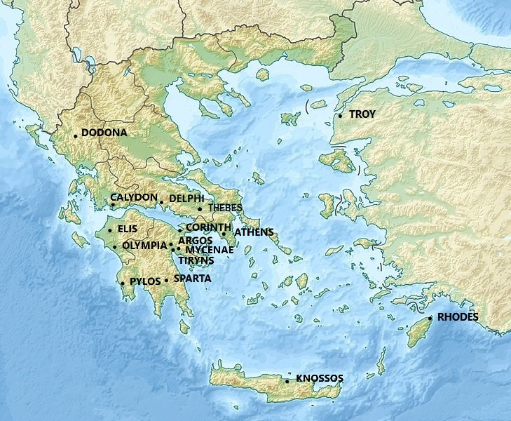 Cities of Greek Mythology